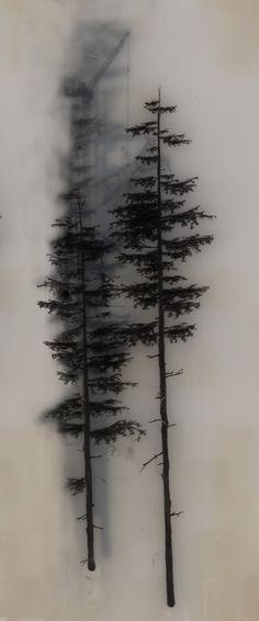 © Brooks Shane Salzwedel, Disposed Crane, 2009, graphite, tape, resin, 10 x 6 inches