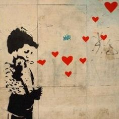 Banksy is the beast on the streets! Street Art Banksy, Banksy Graffiti, Graffiti Artwork, Bansky, Street Art Love, Amazing Street Art, Pop Art, Atelier D Art, Chalk Art