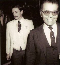 Jacques de Bascher and Karl Lagerfeld, 1970's