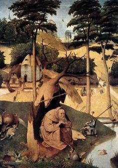 """Painting """"De verzoeking van de heilige Antonius"""" by Hieronymus Bosch - www.schilderijen.nu"""