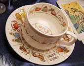 Great cup for tea leaf reading for wanna-be's. A truly gifted reader uses a regular tea cup. It's the same with the Tarot, we use a regular deck of cards. Maybe not as pretty as some of the beautiful decks on sale but just as good.