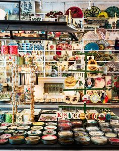 decoupage-filled shop in New York's East Village.Derian's decoupage-filled shop in New York's East Village. Decor Crafts, Home Crafts, Transfer Images To Wood, Decoupage Plates, East Village, Romantic Homes, Picture On Wood, Architectural Digest, Handmade Home Decor