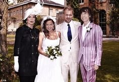 #Jagger wedding | Jade Jagger and DJ Adrian Fillary pose for a picture with parents Bianca and Mick Jagger