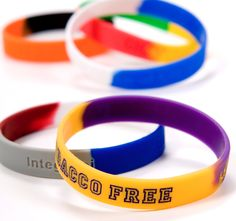 Secbands Pure Silicone wristbands can be segmented.