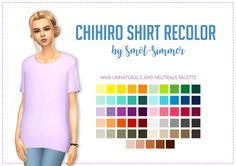 """smol-sims: """" FAM so i hit 800 followers a few days ago and im broke so i can't do a giveaway so instead i made a shirt recolor no one asked for!!!!!!! thank u guys so much for liking my shitty content.i love this shirt and use it constantly but..."""