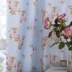 Dunelm Mill Duck Egg Viola Thermal Pencil Pleat Curtains