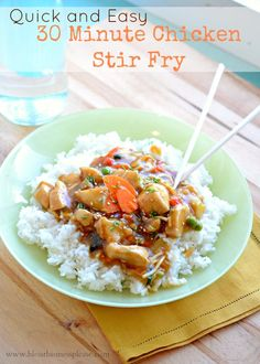 Clean eating dinner with brown rice substitute Quick and Easy Stir-fry - Bless This Mess