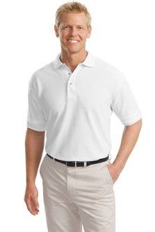 Port Authority Tall Silk Touch Polo TLK500 an enduring favorite  our comfortable classic polo is anything but ordinary. With superior wrinkle and shrink resistance  a silky soft hand and an incredible range of styles  sizes and colors  its a first rate choice for uniforming just about any group.  5 ounce  65/35 poly/cotton pique