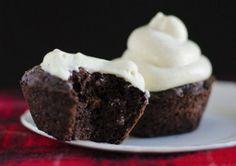 Dark Chocolate Cupcakes, gluten free cupcake recipe