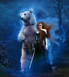Merida And Bear by MelieMelusine on DeviantArt