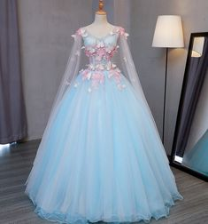 Cheap medieval dress, Buy Directly from China Suppliers:light blue fairy butterfly cosplay ball gown medieval dress princess Medieval Renaissance Gown queen cosplay Victoria dress Fairytale Dress, Fairy Dress, Sweet 16 Dresses, Pretty Dresses, Beautiful Dresses, Butterfly Dress, Blue Butterfly, Butterfly Fairy, Fantasy Gowns