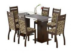 Conjunto de Mesa com 6 Cadeiras Estofadas Madesa - Marselha