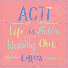 Life is Better Wearing Our Letters. Geneologie | Greek Tee Shirts | Greek Tanks…