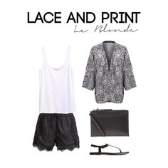 Lace and print look -  Get this Outfit on  le-blonde.com Personal Stylist & Personal Shopper - Outfits inspiration