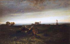 Maksymilian Gierymski <em>Obóz Cyganów I </em>   1867-1868, Muzeum Narodowe w Krakowie Moonlight, 19th Century, Sunrise, Culture, Artist, Painting, Poland, Google, Artists
