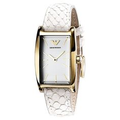 Emporio Armani White And Gold Ladies Designer Watch Ar0729