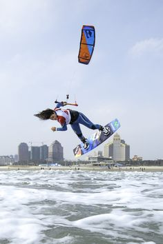 Gisela Pulido (19) nine times Freestyle Kitesurfing World Champion. (Picture: Toby Bromwich)