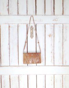 Vintage tan brown snake skin leather shoulder purse/reptile handbag/snakeskin leather bag by GreenCanyonTradingCo on Etsy
