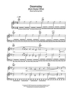 """Sheet Music for Doctor Who's """"Doomsday' by Murray Gold. If I could play the piano I'd totally play this Rose And The Doctor, Bbc Doctor Who, Don't Blink, Guitar Lessons, Guitar Tips, Digital Sheet Music, Geek Out, Piano Music, Dr Who"""