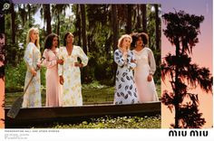 From Vogue magazine Miu Miu 2017, Aug 01. I chose this advertisement because its use of color shows the product well. For example, the contrasting colors of the green nature background recedes when the pastel tropical background pushes forward. This allows the models pastel colors to push forward and create movement with the viewer's eye. It goes from the models to the edge of the page towards the tropical pastel background, similar to the movement in the Chanel perfume ad.