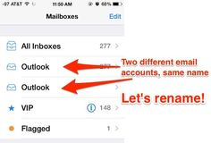 How to rename eMail accounts on the iPhone, iPad to be more descriptive