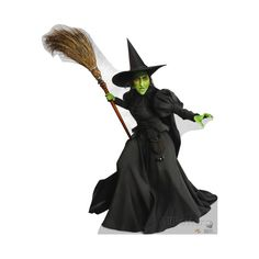 Wicked Witch of the West - Wizard of Oz 75th Anniversary Lifesize... ($40) ❤ liked on Polyvore featuring home, home decor, halloween, wizard of oz and halloween home decor