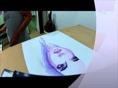 "Roger Marcelo pintando em Aquarela ""In Studio"""