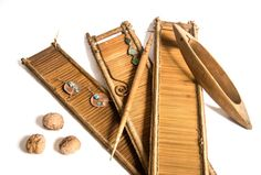 Antique wooden loom Part of weaving loom 1800's by RusticHomeDeco