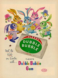 Vintage Chewing Gum ad for Dubble Bubble Old Advertisements, Retro Advertising, Retro Ads, Vintage Candy, Vintage Holiday, Vintage Toys, Vintage Magazines, Vintage Metal, Retro Vintage