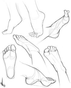 feet references - drawing - foot - ankle - anatomy - drawing tutorial You ar. Anatomy Sketches, Body Sketches, Anatomy Art, Anatomy Drawing, Drawing Sketches, Anatomy Organs, Heart Anatomy, Drawing Templates, Human Anatomy