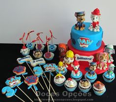 Doces Opções: A Patrulha Pata no 3º aniversário do Guilherme Marcel, Food Ideas, 1, Desserts, Cakes, Party, Tailgate Desserts, Deserts, Postres
