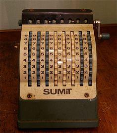 Mid Century Sumit Adding Machine. $49.00, via Etsy.