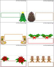 Christmas Placecards - Enchanted Learning Software - Can't wait to make these with the grandangels   #countrywoman #merrychristmas