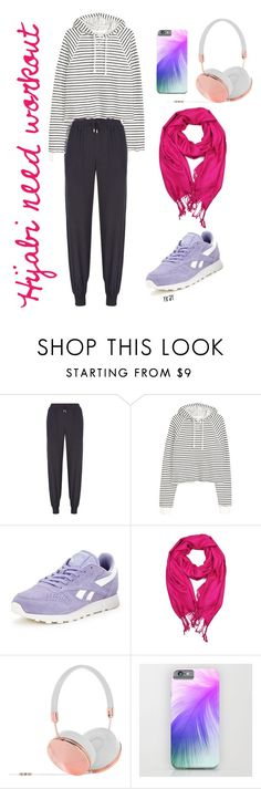"""Hijabis workout outfit"" by yuridafw on Polyvore featuring Armani Jeans, Reebok and Frends"