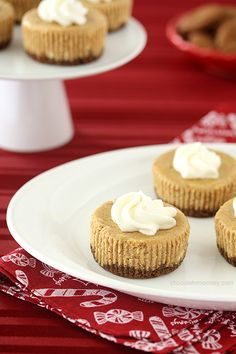 Gingerbread Cheesecake Cupcakes combine the rich flavors of gingerbread and cheesecake into one handheld treat for Christmas.