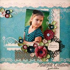 Click to Zoom: Teal Carnation Creations Layout