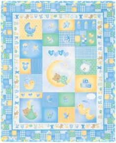 SLEEPY TIME BOY QUILT KIT