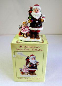 International Santa Claus Collection SC59 Eskimo Santa and Snow Baby ESKIMO,2002