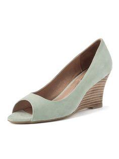 Sara Jones London - open toe wedge pumps