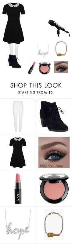 """Random Tour Outfit"" by christianmusicfangirl2002 ❤ liked on Polyvore featuring River Island, Clarks, George and The Giving Keys"