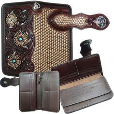 Rakuten: High quality: A real leather long wallet set. Wallet + key ring. Handmade Atsushi Kubota (long wallet フィリグリーカービング / openwork)- Shopping Japanese products from Japan