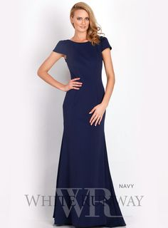 Anastasia Cap Sleeve Gown - Up to US size 24 Navy Blue Bridesmaid Dresses, Bridesmaid Dresses Online, Bridesmaids, Blue Evening Dresses, Ball Dresses, Prom Dresses, Buy Maxi Dresses Online, Red Formal Gown, Country Wedding Gowns