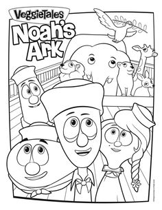 noahs ark coloring page bible story craftsbible storiesveggie - Free Veggie Tales Coloring Pages 2