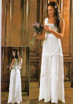 Sonho de croche: Vestidos de Noiva de Croche