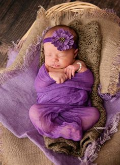 Purple Cheesecloth Purple Newborn Wrap Newborn by SnassyCrafter, $11.50