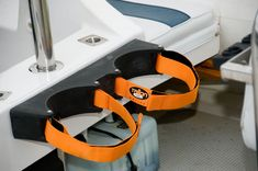 Tallon's secure, stylish and fully removable scuba dive tank rack. Holder mounts on Tallon Sockets to provide secure storage of two dive tanks where and when needed on your boat - or in your vehicle! Buy Tallon Sockets and accessories online. | Tallon Systems Accessory Store