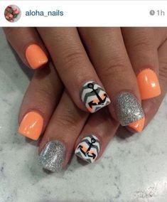 Chevron Nail Designs, Chevron Nails, Nail Art Designs, Anchor Nail Designs, Nails Design, Beach Nail Designs, Pedicure Designs, Get Nails, Fancy Nails