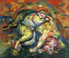 Sandro Chia - Muchacho y perro que duerme, 1983