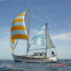A Fisher 34 ketch - cutter rigged with mizzen staysail motor-sailor