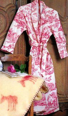 Patron de robe de chambre femme gratuit
